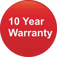 FREE 10 Year Home Warranty - all parts and labour covered
