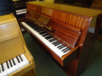 Fuchs And Mohr Upright Piano Polished Mahogany