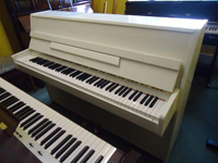 Kawai Upright Piano Polished White
