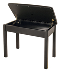 Minueta piano stool with music storage