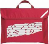 Sheet Music Bag Musical Notes Design Mapac 11310 Red Large Picture Large Picture