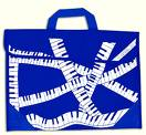 Sheet Music Bag Piano Design Mapac 11320 Blue