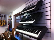 Yamaha keyboards on display in our showroom