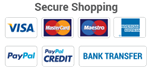 Pay by Credit, Debit Card, Amex or PayPal