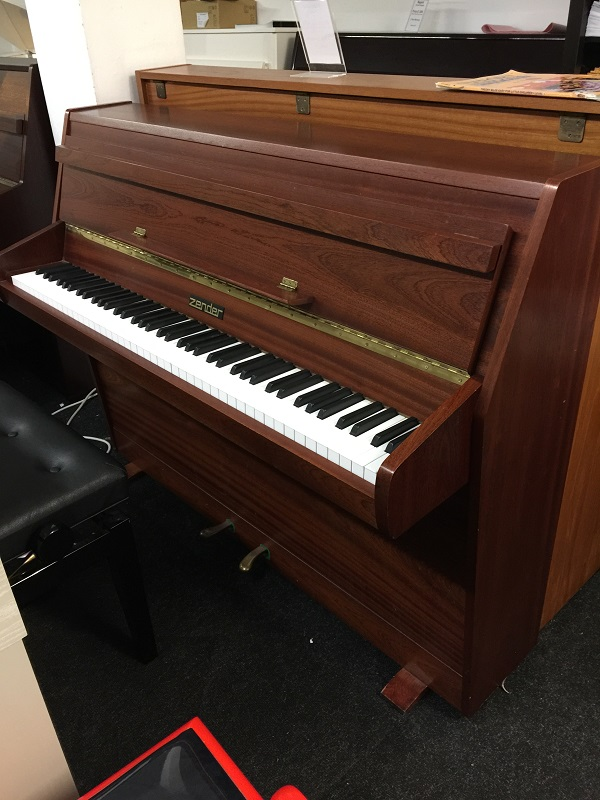Zender acoustic upright piano in mahogany