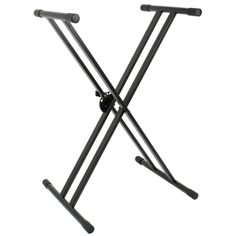 Double Strength Keyboard Stand Double Braced X Type
